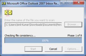 repair outlook file using inbox repair tool