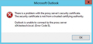 microsoft outlook error code