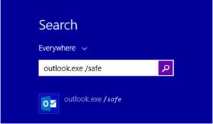 start ms outlook in safe mode
