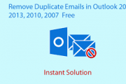 delete duplicate PST folder set with same content